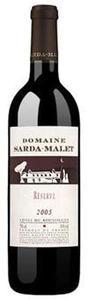 Domaine Sarda Malet Réserve Côtes Du Roussillon 2007, Ac Bottle