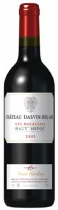 Château Dasvin Bel Air 2003, Ac Haut Médoc Bottle