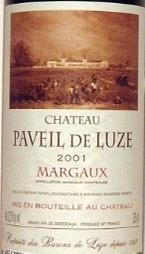 Château Paveil De Luze 2001 Bottle