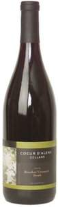 Coeur D'alene Boushey Vineyard Syrah 2006, Yakima Valley Bottle