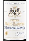 Château Haut Badette 2006, Ac St Emilion Grand Cru Bottle