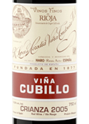R. López De Heredia Viña Cubillo Crianza 2005, Doc Rioja Bottle