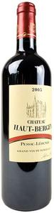 Château Haut Bergey 2008, Ac Pessac Léognan Bottle