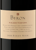 Byron Nielson Vineyard Pinot Noir 2008, Santa Maria Valley Bottle