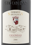 Domaine Saint Gayan Gigondas 2006, Ac Bottle