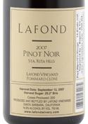 Lafond Pommard Clone Pinot Noir 2007, Santa Rita Hills Bottle