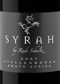 Syrah By Rudi Schultz 2007, Wo Stellenbosch Bottle