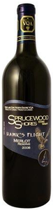 Sprucewood Shores Hawk's Flight Merlot Reserve 2008, Lake Erie North Shore Bottle