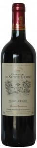 Château De Sainte Gemme 2005, Ac Haut Médoc Bottle