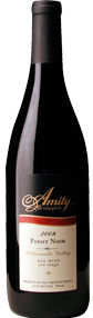 Amity Pinot Noir 2008, Willamette Valley, Oregon Bottle