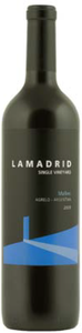 Agrelo Lamadrid Single Vineyard Malbec 2009, Mendoza Bottle