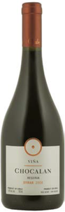 Viña Chocalan Syrah Reserva 2008, Maipo Valley Bottle