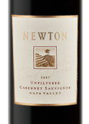 Newton Unfiltered Cabernet Sauvignon 2007, Napa Valley Bottle
