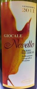 Giocale Novello 2011, Terre Di Chieti Bottle