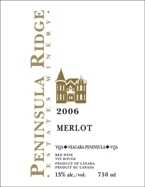 Peninsula Ridge Merlot 2009, VQA Bottle