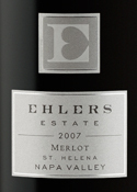 Ehlers Merlot 2007, St. Helena, Napa Valley Bottle