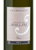 Nicolas Maillart Grand Cru Brut Rosé Champagne, Ac Bottle