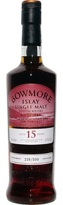 Bowmore Laimrig 15 Years Old Islay Single Malt, Non Chill Filtered, Natural Cask Strength Bottle