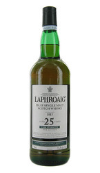 Laphroaig 25 Years Old Cask Strength Islay Single Malt Scotch, United Kingdom Bottle