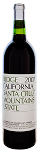 Ridge Santa Cruz Mountains Cabernet Merlot 2007, Santa Cruz Mountains Bottle