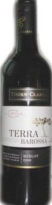 Thorn Clarke Terra Barossa Merlot 2009, Barossa Bottle