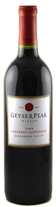 Geyser Peak Cabernet Sauvignon 2007, Alexander Valley, Sonoma County Bottle