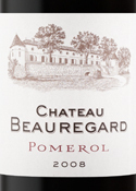 Chateau Beauregard 2008, Pomerol Bottle