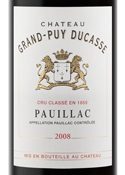 Chateau Grand Puy Ducasse 5eme Cru 2008, Pauillac Bottle