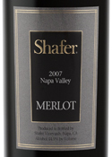 Shafer Merlot 2007, Napa Valley Bottle