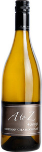 A To Z Wineworks Chardonnay 2009, Oregon, No Wood Bottle