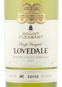 Mcwilliams Mount Pleasant Lovedale Semillon 2003, Hunter Valley Bottle
