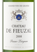 Chateau De Fieuzel Blanc 2008, Pessac Leognan Bottle