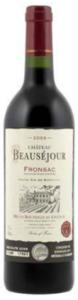 Château Beausejour 2009, Ac Fronsac Bottle