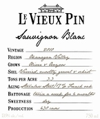 Le Vieux Pin Sauvignon Blanc 2011, Okanagan Valley Bottle