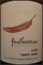 Featherstone Pinot Noir 2009, Twenty Mile Bench, Niagara Peninsula Bottle