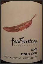 Featherstone Pinot Noir 2009, Twenty Mile Bench, Niagara Peninsula Bottle