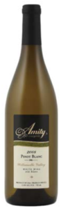 Amity Pinot Blanc 2008, Willamette Valley Bottle