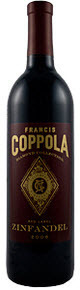 Francis Coppola Diamond Collection Red Label Zinfandel 2009, California Bottle