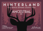 Hinterland Ancestral 2011, Prince Edward County Bottle