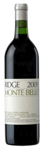 Ridge Vineyards Monte Bello 2009, Santa Cruz Mountains Bottle