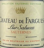 Chateau De Fargues Lur Saluces, 1995, Sauternes 1995 Bottle