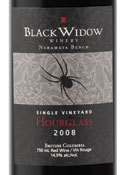 Black Widow Hourglass 2008, Okanagan Valley Bottle