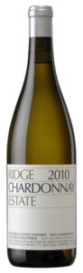 Ridge Estate Chardonnay 2010, Monte Bello Estate Vineyard, Santa Cruz Mountains Bottle