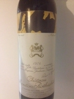 Chateau Mouton Rothschild 1974 Bottle