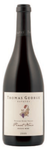 Thomas George Estates Pinot Noir 2009, Russian River Valley, Sonoma County Bottle