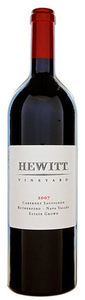 Hewitt Vineyard Estate Grown Cabernet Sauvignon 2008, Rutherford, Napa Valley Bottle