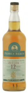 Pebble Beach 12 Year Old Speyside Single Malt Scotch Bottle