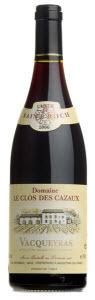 Clos Des Cazaux Cuvée St. Roch Vacqueyras 2009, Ac Bottle