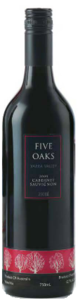 Five Oaks Cabernet Sauvignon 2004, Yarra Valley, Victoria Bottle