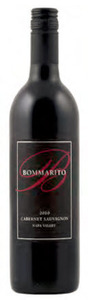 Bommarito Cabernet Sauvignon 2010, Napa Valley Bottle